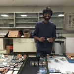 Ranjeev explores his thesis specimens